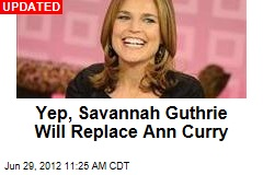 Savannah Guthrie Takes Ann Curry's Seat on Today