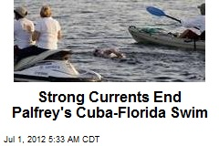Strong Currents End Palfrey's Cuba-Florida Swim