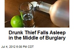 Drunk Thief Falls Asleep in the Middle of Burglary