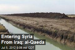 Entering Syria From Iraq: al-Qaeda