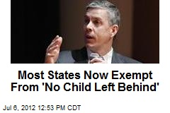Most States Now Exempt From 'No Child Left Behind'