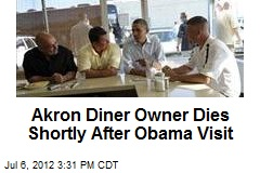 Akron Diner Owner Dies Shortly After Obama Visit