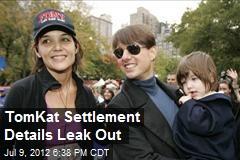 TomKat Settlement Details Leak Out