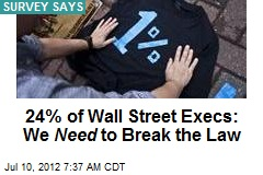 24% of Wall Street Execs: We Need to Break the Law