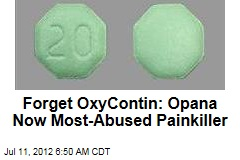 Opana Overtakes OxyContin as Most-Abused Painkiller