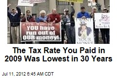 The Tax Rate You Paid in 2009 Was Lowest in 30 Years