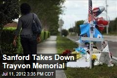 Sanford Takes Down Trayvon Memorial