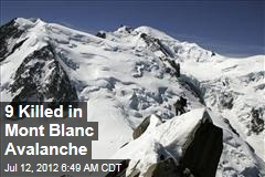 9 Killed in Mont Blanc Avalanche