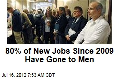 80% of New Jobs Since 2009 Have Gone to Men