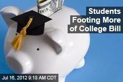 Students Footing More of College Bill