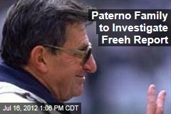Paterno Family to Investigate Freeh Report