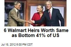 6 Walmart Heirs Worth Same as Bottom 41% of US