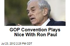 GOP Convention Plays Nice With Ron Paul