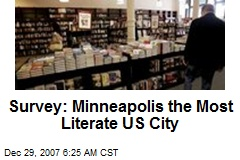 Survey: Minneapolis the Most Literate US City