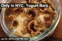 Only in NYC: Yogurt Bars