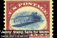 'Jenny' Stamp Sells for $825K