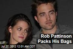 Pattinson Packs His Bags