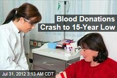 Blood Donations Hit 15-Year Low