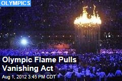 Olympic Flame Pulls Vanishing Act