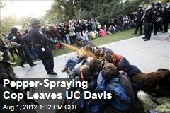 Pepper-Spraying Cop Leaves UC Davis