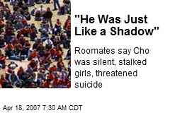 """He Was Just Like a Shadow"""