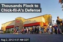 Thousands Flock to Chick-fil-A's Defense