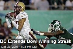 BC Extends Bowl Winning Streak