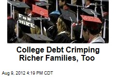College Debt Weighing Down Richer Families, Too