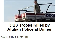 3 US Troops Ambushed by Afghan Police Boss, Men