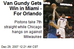 Van Gundy Gets Win in Miami - For Orlando