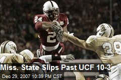 Miss. State Slips Past UCF 10-3