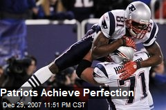 Patriots Achieve Perfection