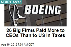 26 Big Firms Paid More to CEOs Than to US in Taxes