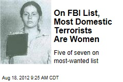 On FBI List, Most Domestic Terrorists Are Women