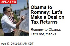 Obama to Romney: Let's Make a Deal on Tax Returns