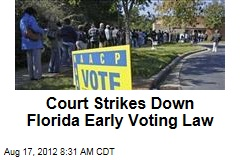 Court Strikes Down Florida Early Voting Law