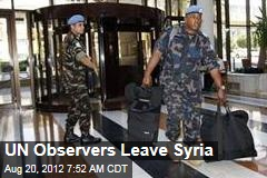 UN Observers Leave Syria