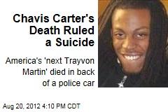 Chavis Carter's Death Ruled a Suicide