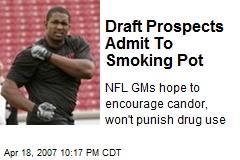 Draft Prospects Admit To Smoking Pot