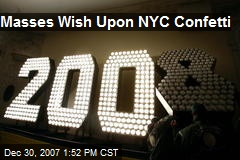 Masses Wish Upon NYC Confetti