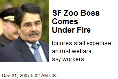 SF Zoo Boss Comes Under Fire