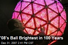 '08's Ball Brightest in 100 Years