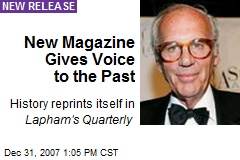 New Magazine Gives Voice to the Past