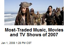 Most-Traded Music, Movies and TV Shows of 2007