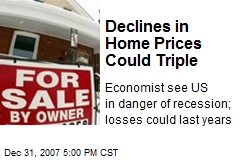 Declines in Home Prices Could Triple
