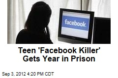 Teen 'Facebook Killer' Gets Year in Prison
