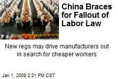China Braces for Fallout of Labor Law