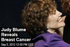 Judy Blume Reveals Breast Cancer