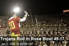 Trojans Roll in Rose Bowl 49-17