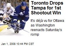 Toronto Drops Tampa for 1st Shootout Win